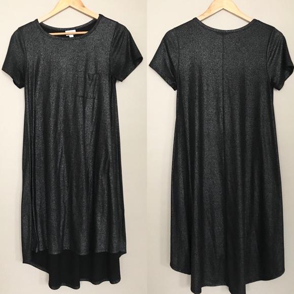 cd0e679b LuLaRoe Dresses | Black Metallic Glitter Carly Dress Size Sm | Poshmark